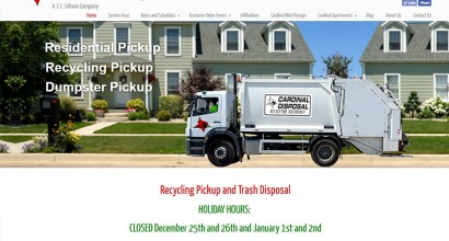 Cardinal Disposal Website Homepage