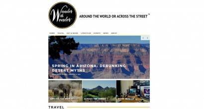 Wander with Wonder Homepage