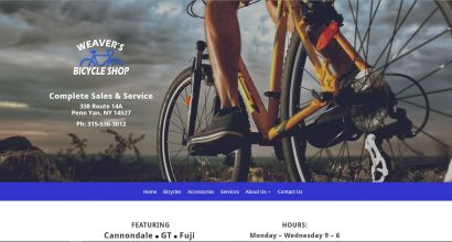 Weaver's Bicycle Shop Homepage